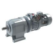 Coaxial gear reducer with speed variator.